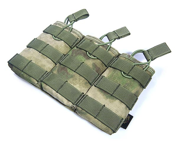 FLYYE Stacker EV Universal Triple Mag MOLLE Pouch - A-TACS , A-TACS/FG