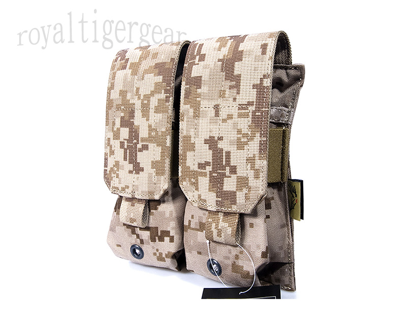 FLYYE Double M4 Mag MOLLE Pouch for 4 Mag. - AOR1 , AOR2