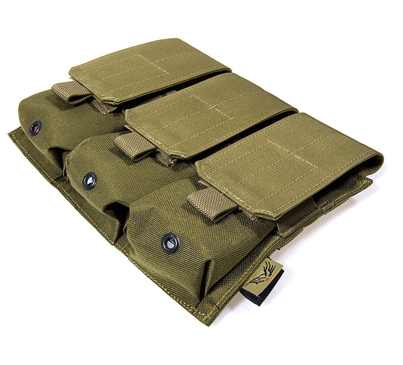 FLYYE Triple M4 Mag MOLLE Pouch for 6 Mag.