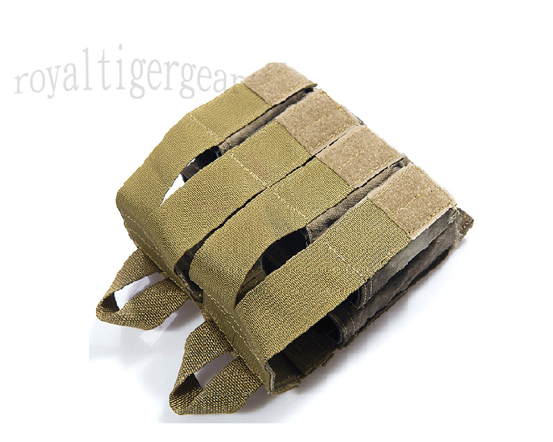 FLYYE Double 5.56mm M4 + Quad 9mm Pistol Mag. Ammo MOLLE Pouch - A-TACS AU, A-TACS FG