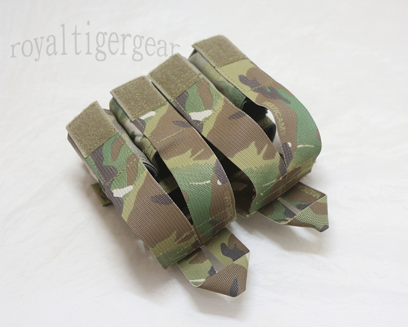 FLYYE Double 5.56mm M4 + Quad 9mm Pistol Mag. Ammo MOLLE Pouch - Multicam® / Multicam® Webbing