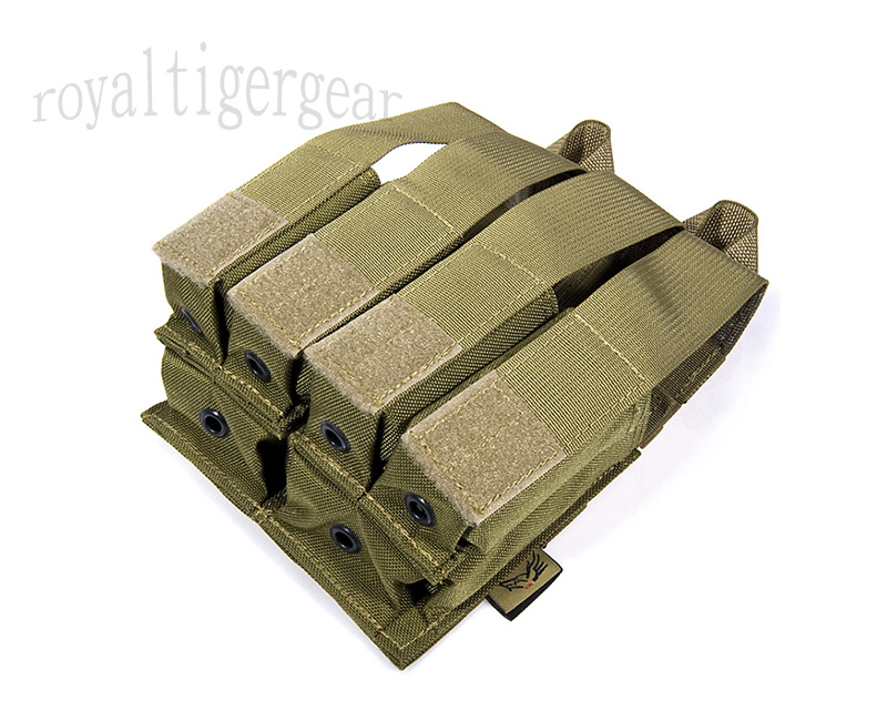 FLYYE Double 5.56mm M4 + Quad 9mm Pistol Mag. Ammo MOLLE Pouch
