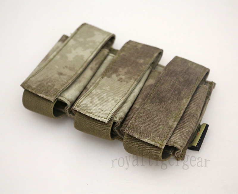 FLYYE Triple 40mm Grenade Pouch - A-TACS AU, A-TACS FG