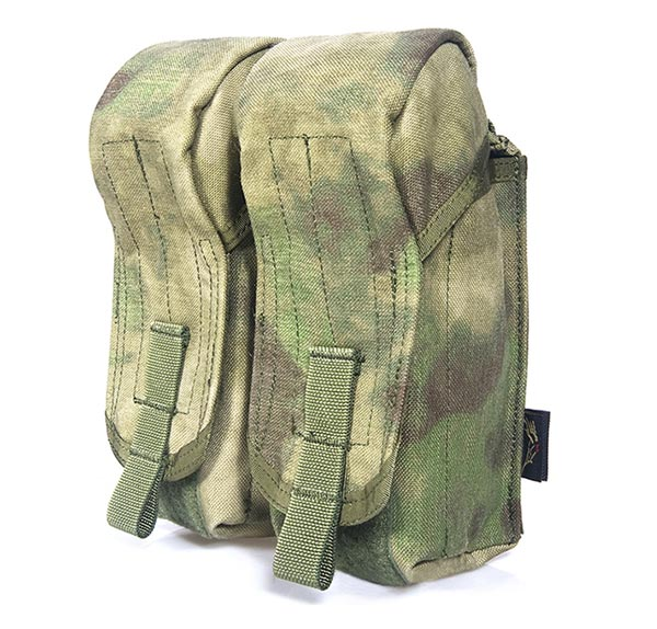 FLYYE AK Double Mag Ammo MOLLE Pouch for 6 Mag - A-TACS , A-TACS/FG