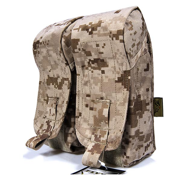 FLYYE Double AK Mag MOLLE Pouch for 6 Mag - AOR1 , AOR2