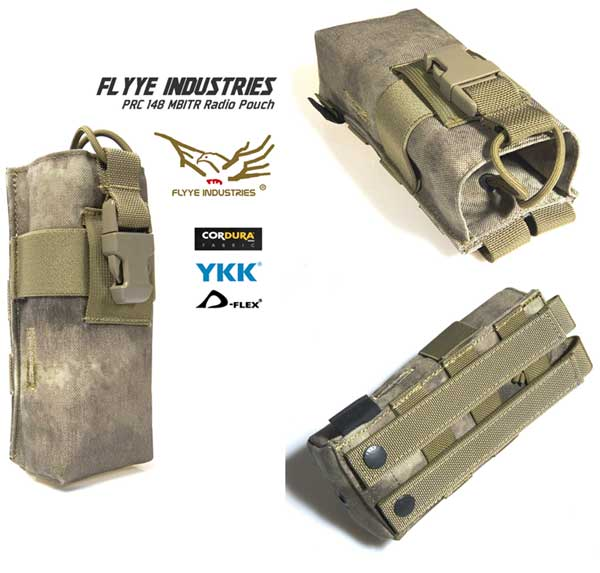 FLYYE PRC 148 MBITR Radio MOLLE Pouch - A-TACS , A-TACS/FG