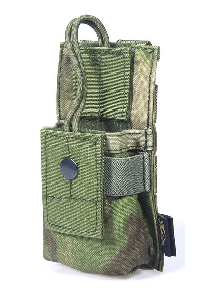 FLYYE MOLLE Short Radio Pouch -  A-TACS ,  A-TACS/FG