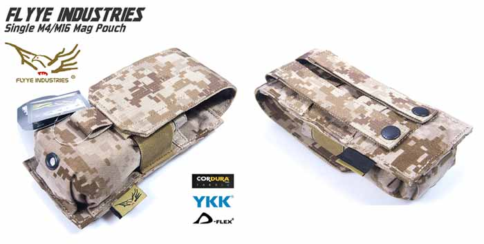FLYYE Single M4 Mag MOLLE Pouch for 2 Mag. - AOR1 , AOR2