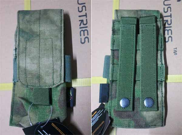 FLYYE Single M4 Mag MOLLE Pouch for 2 Mag. -  A-TACS , A-TACS/FG