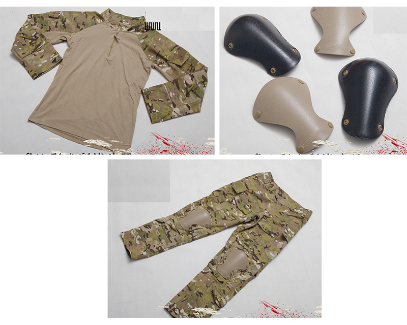 WARARMOR Multicam MC PATA L9 Combat Shirt Pants with Pads