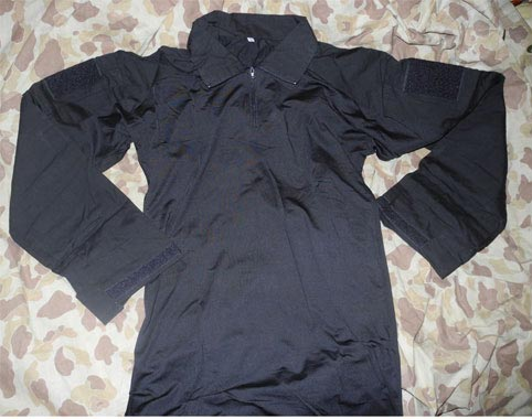 Black Combat Shirt - Long Sleeves