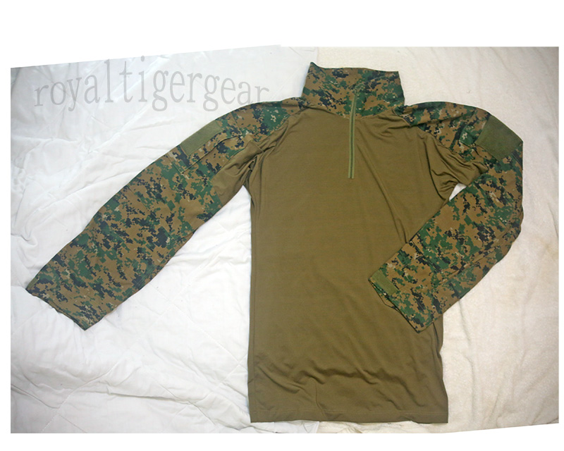 USMC MARPAT Woodland Digital Camo Combat Shirt - Long Sleeves