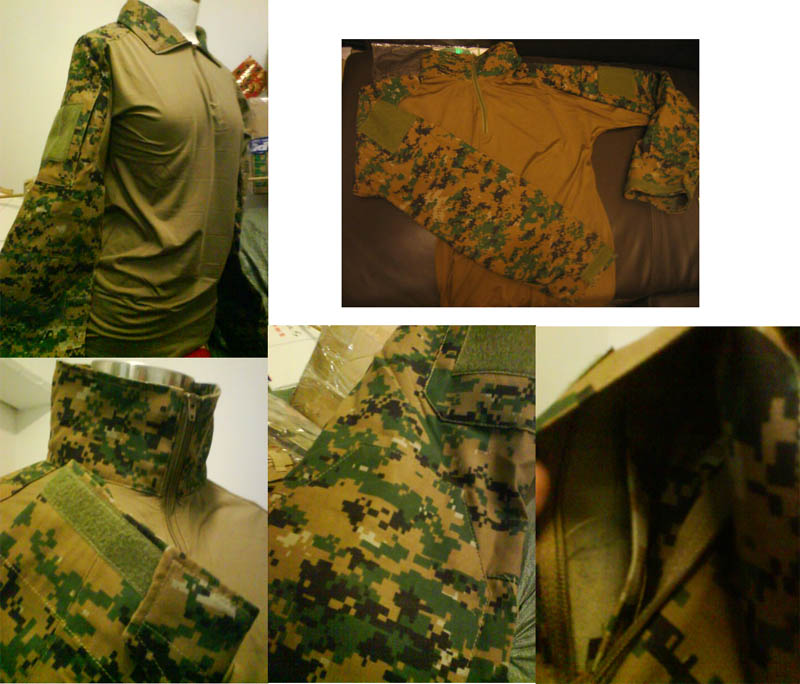 USMC MARPAT Woodland Combat Shirt - Long Sleeves