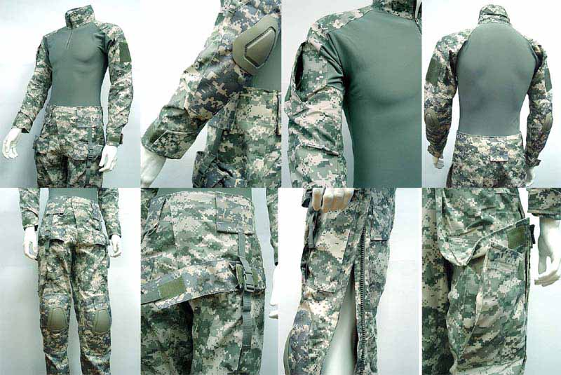 ACU Combat Shirt and Pants Sets with Pads