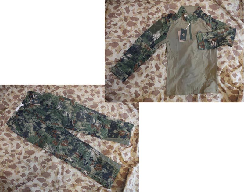 CHIEF Python Snake Camo Combat Shirt Pants Set - MR