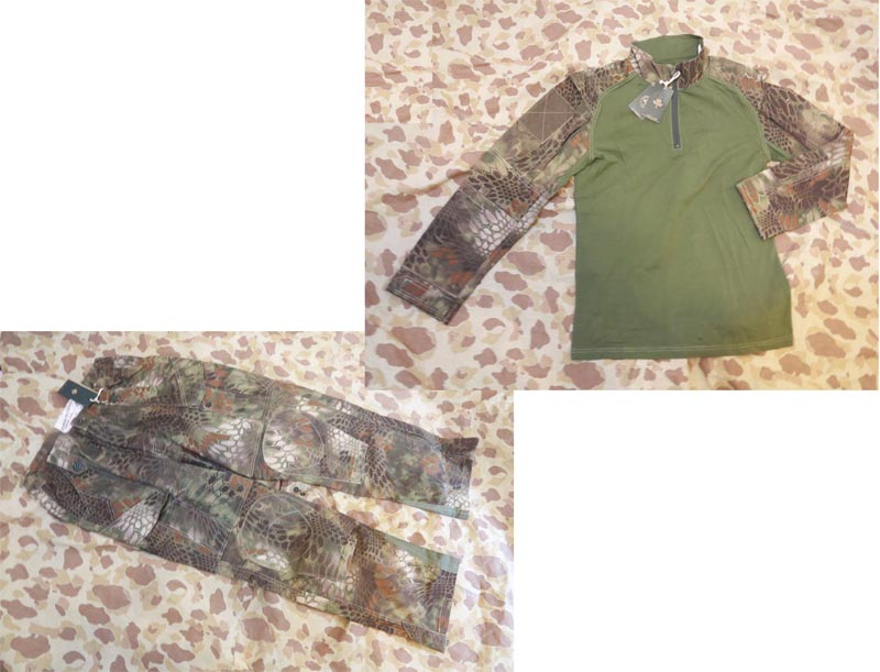 CHIEF Python Snake Camo Combat Shirt Pants Set - BAN