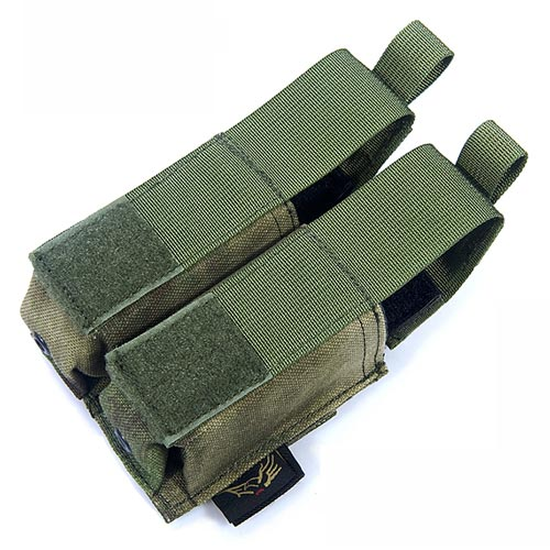 FLYYE Double 9mm Pistol Mag. MOLLE Pouch Ver.HP - A-TACS , A-TACS/FG