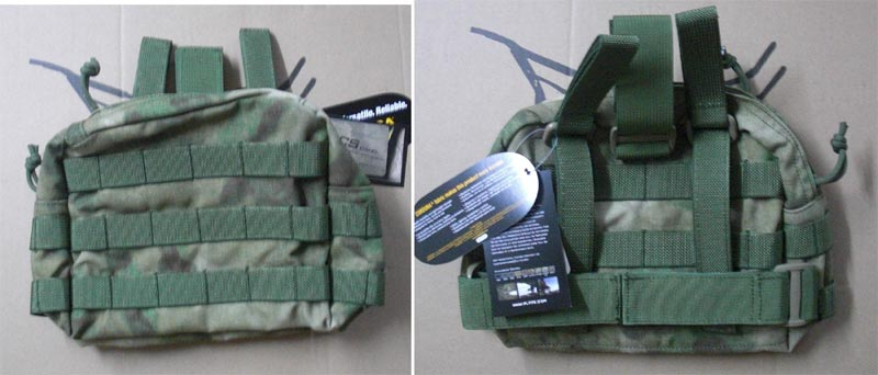 FLYYE MOLLE Drop Leg Accessories Pouch - A-TACS , A-TACS/FG