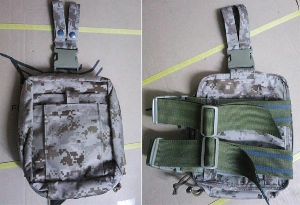 FLYYE Drop Leg Rescue Kit Medical MOLLE Pouch - AOR1 , AOR2