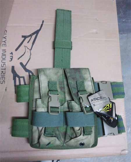 FLYYE Drop Leg Double M4/M16 Mag Pouch -  A-TACS , A-TACS/FG
