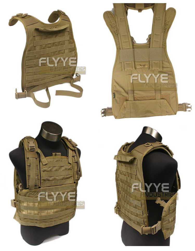 FLYYE RRV MOLLE Chest Rig Vest PC Back Plate