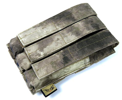 FLYYE Triple MP5 Ammo Mag. MOLLE Pouch - A-TACS , A-TACS/FG