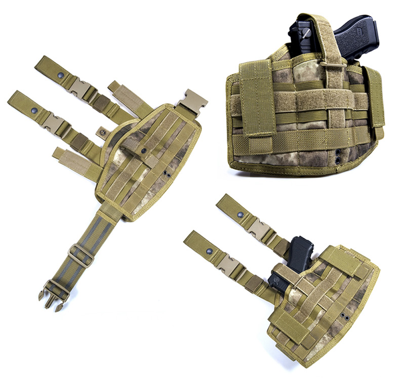 FLYYE MOLLE Tactical Versatile Pistol Holster - A-TACS AU, A-TACS FG