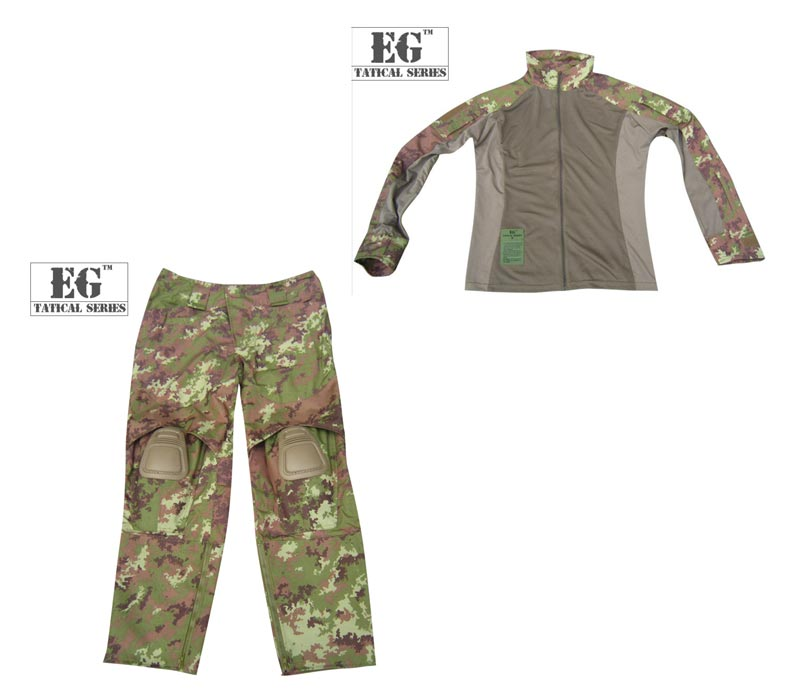 EVOLUTION GEAR ICS Improved Combat Combat Shirt Pants - Italian Woodland Vegetato Camo