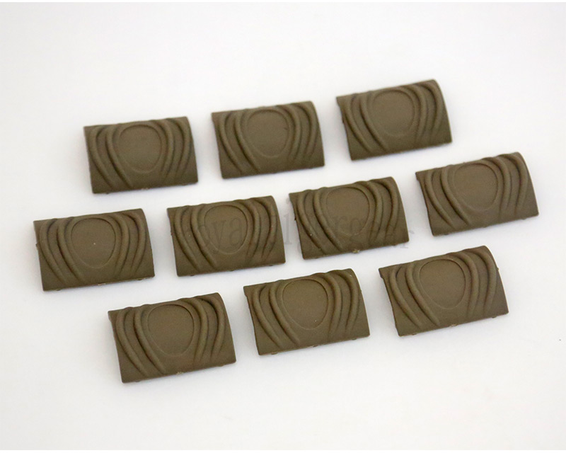 Element TDI Soft Polymer Rail Cover Short 10 Pcs - Dark Earth