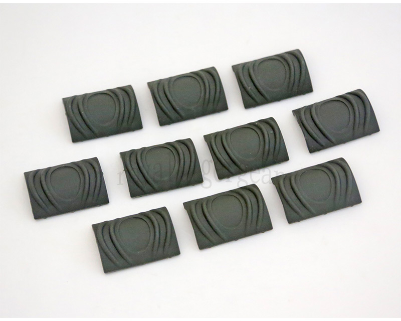 Element TDI Soft Polymer Rail Cover Short 10 Pcs - Foliage Green