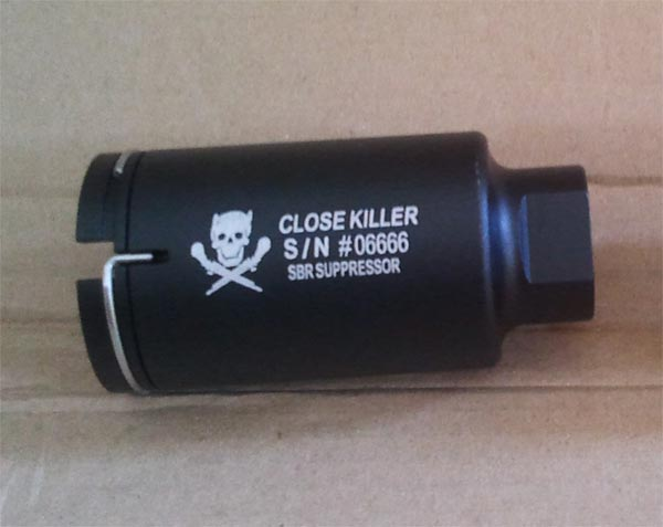 Element M4 Mini Version Flash Hider - Close Killer - Black