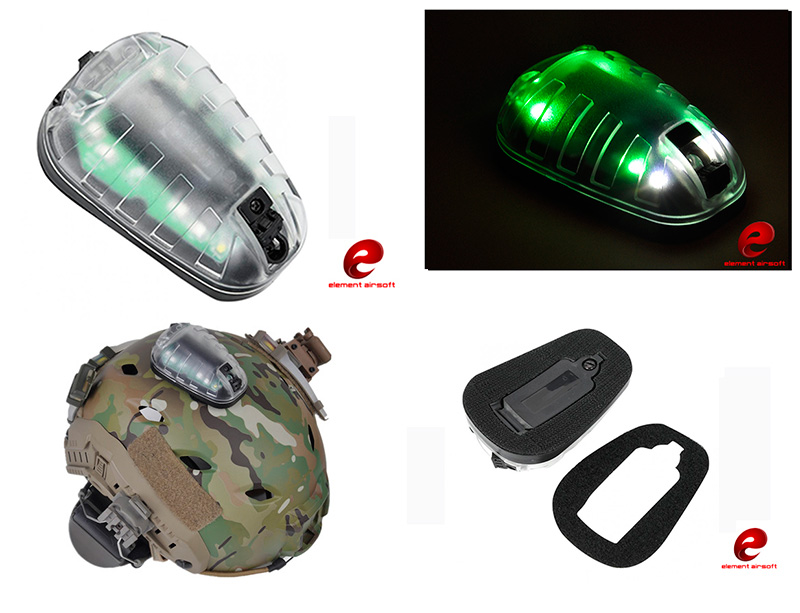 Element HEL-STAR 6 Tactical Flashlight Strobe IR Infrared - EX433 Black Green Light VIP