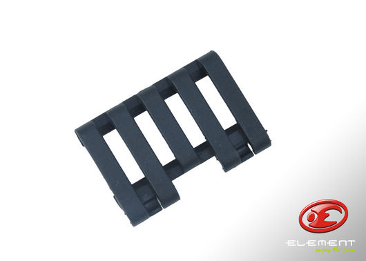 Element Rail Cover with Wire Loom 5-slot - Black