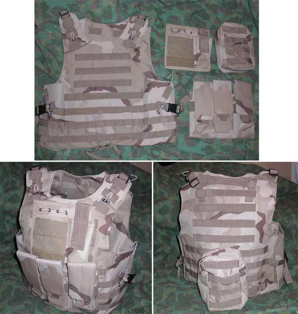 FSBE vest with pouches - Tri-Desert