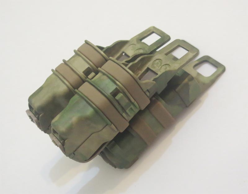 FastMag GEN3 M4 Mag Pouch with Double 9mm Mag Pouch - Water Transfer A-TACS/FG