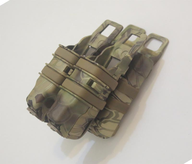 FastMag GEN3 M4 Mag Pouch with Double 9mm Mag Pouch - Water Transfer Snake HLD Highland