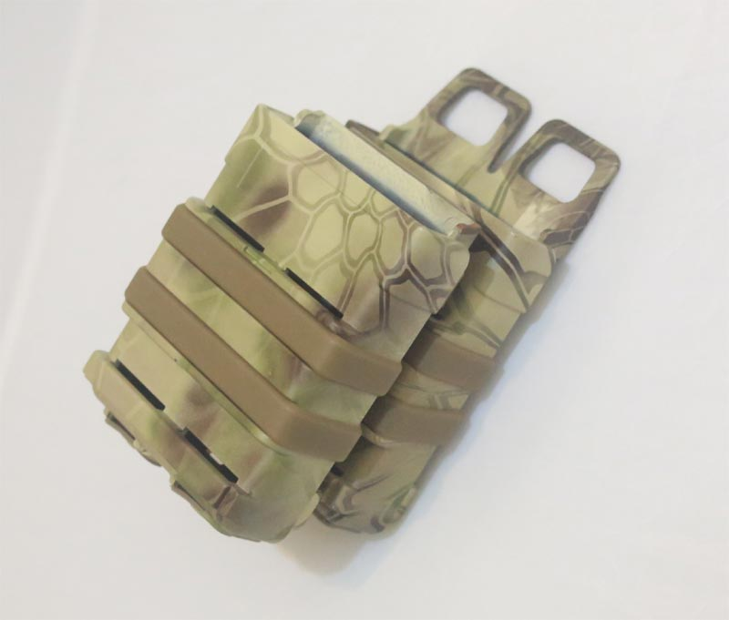FastMag GEN3 Double M4 Mag Pouch - Water Transfer Snake HLD Highland