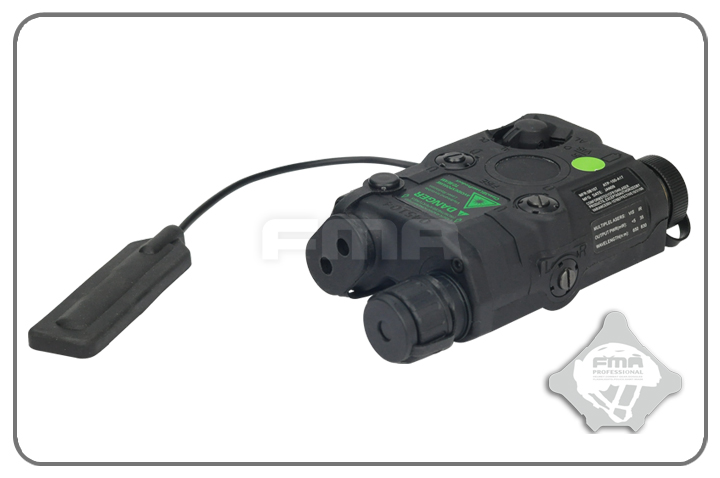 FMA AN/PEQ-15 Upgrade Version LED White Light + Green Laser with IR - Black