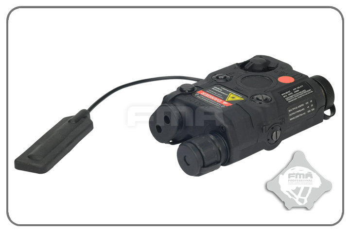 FMA AN/PEQ-15 Upgrade Version LED White Light + Red Laser with IR - Black