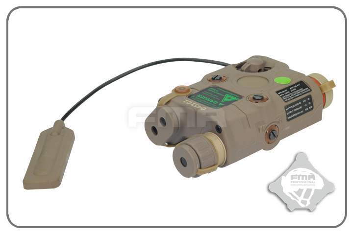 FMA AN/PEQ-15 Upgrade Version LED White Light + Green Laser with IR - Dark Earth