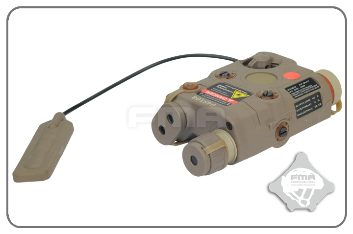 FMA AN/PEQ-15 Upgrade Version LED White Light + Red Laser with IR - Dark Earth