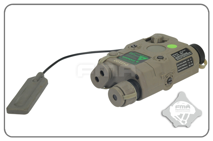 FMA AN/PEQ-15 Upgrade Version LED White Light + Green Laser with IR - Foliage Green