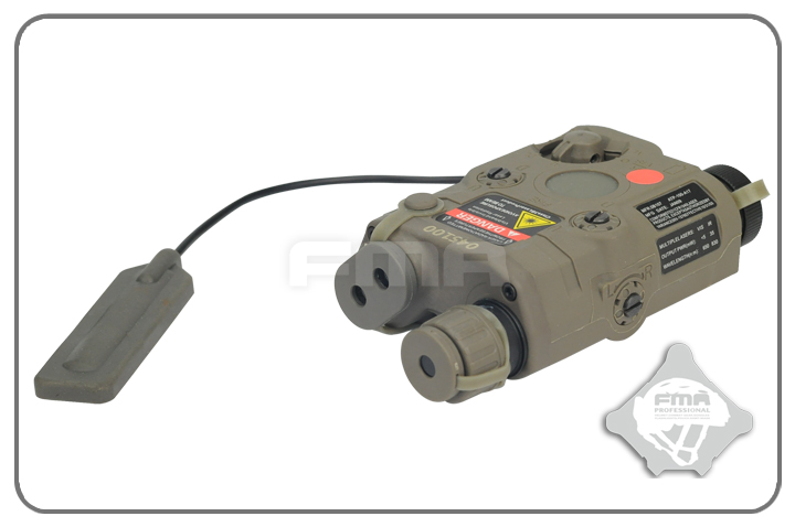 FMA AN/PEQ-15 Upgrade Version LED White Light + Red Laser with IR - Foliage Green