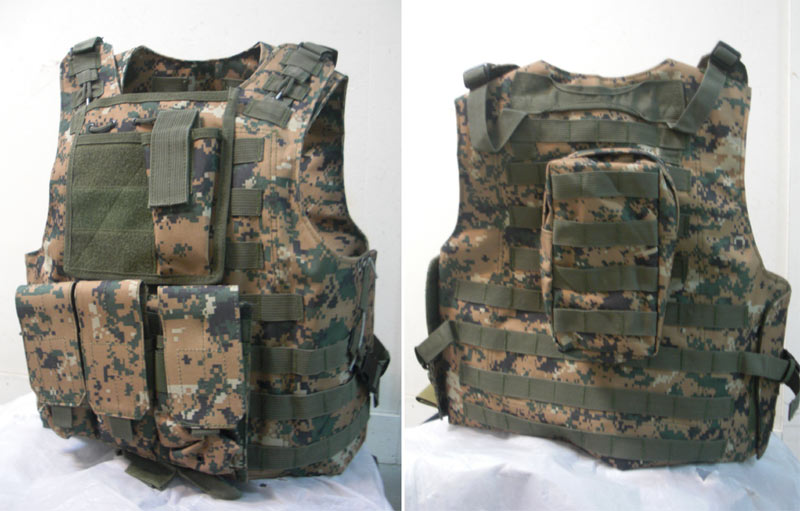 FSBE vest with pouches - USMC MARPAT Woodland