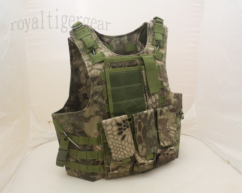 FSBE vest with pouches - Kryptek Python Snake Camo MR Woodland