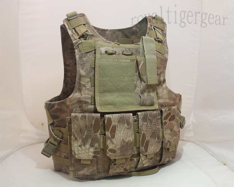 FSBE vest with pouches - Kryptek Python Snake Camo MAD Desert