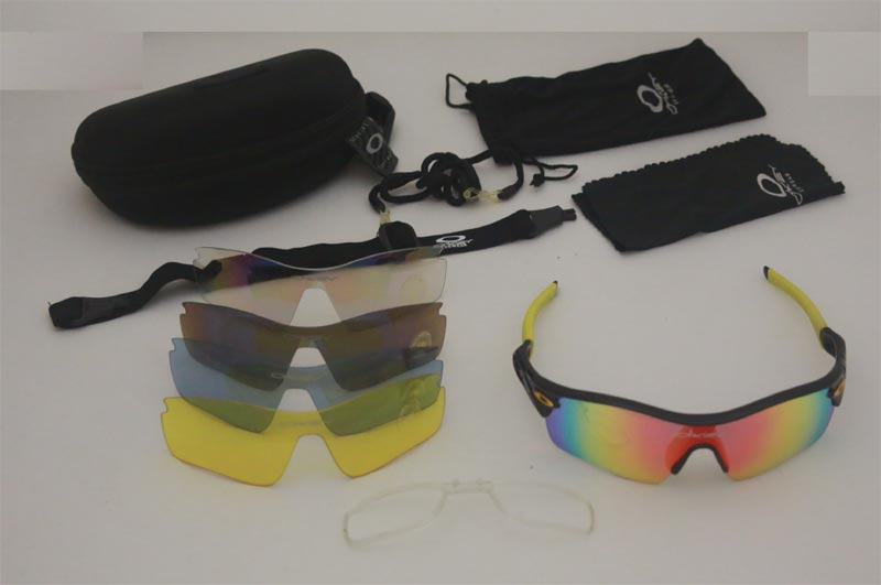 Type O C5 Glasses with 5 Lens – Black / Yellow ( Removable Short Sight Frame )