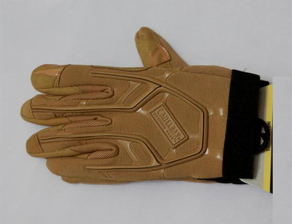 Impact Tactical Padded Glove - Brown