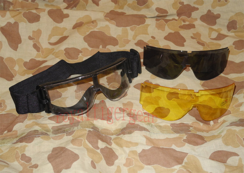 Tactical Goggles - X-800 Style w/ 3 Lens