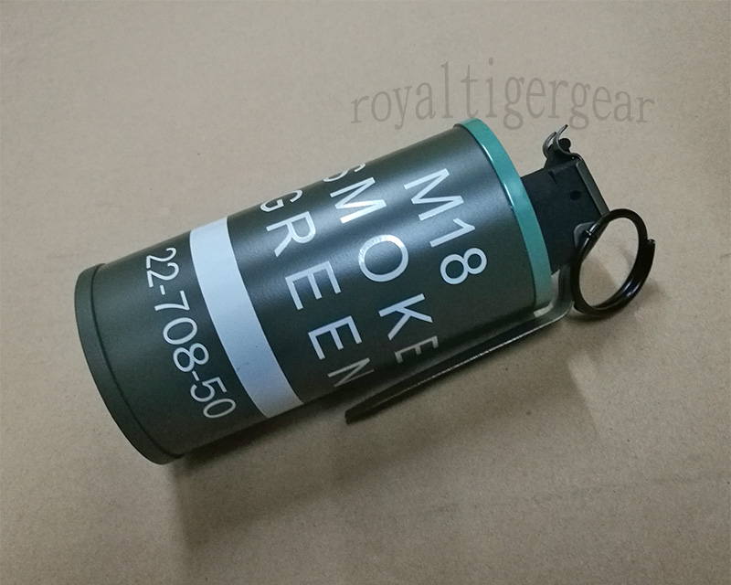 US M18 Dummy Smoke Grenade Container Model - Green
